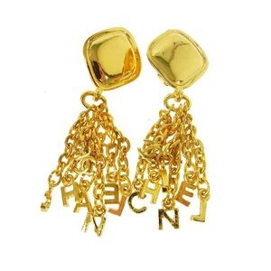 Authentic Vintage Chanel Gold Dangle Earrings